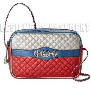 GUCCI quilted leather TRAPUNTATA horsebit bag